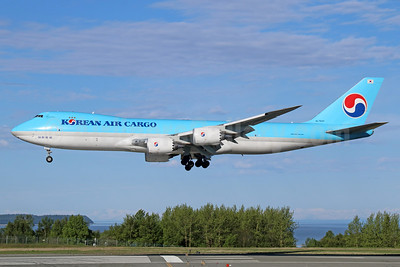Korean Air Cargo Boeing 747-8B5F HL7623 (msn 37655) ANC (Michael B. Ing). Image: 933044.