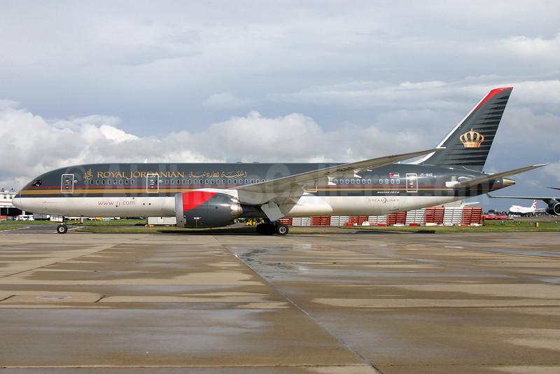 Royal Jordanian Airlines Boeing 787-8 Dreamliner JY-BAE (msn 37166) LHR. Image: 929177.