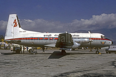 Royal Nepal Airlines Hawker Siddeley HS.748-253 Series 2A 9N-AAV (msn 1672) KTM (Christian Volpati Collection). Image: 933742.