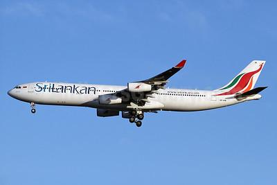 SriLankan Airlines Airbus A340-313 4R-ADE (msn 367) LHR (Keith Burton). Image: 933516.