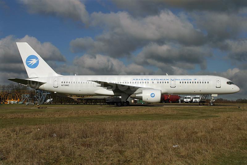 Ariana Afghan Airlines Boeing 757-2Q8 N719BC (msn 25131) QLA (Antony J. Best). Image: 901349.