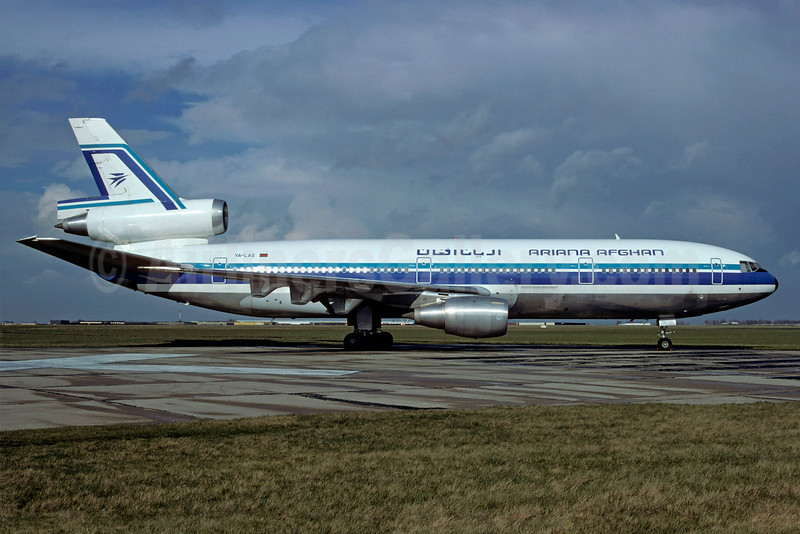 Ariana Afghan Airlines McDonnell Douglas DC-10-30 YA-LAS (msn 47888) LBG (Christian Volpati). Image: 907716.
