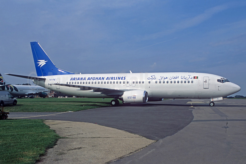 Ariana Afghan Airlines (Pamir Airways) Boeing 737-4Y0 YA-PIE (msn 26086) QLA (Jacques Guillem Collection). Image: 925553.