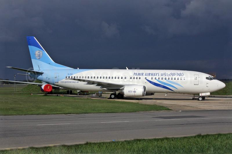 Pamir Airways Boeing 737-4Y0 YA-PIB (msn 26077) QLA (Antony J. Best). Image: 904957.