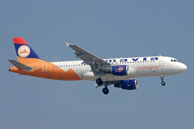 Armavia Air Company Airbus A320-211 EK32008 (msn 229) DXB (Jay Selman). Image: 402277.