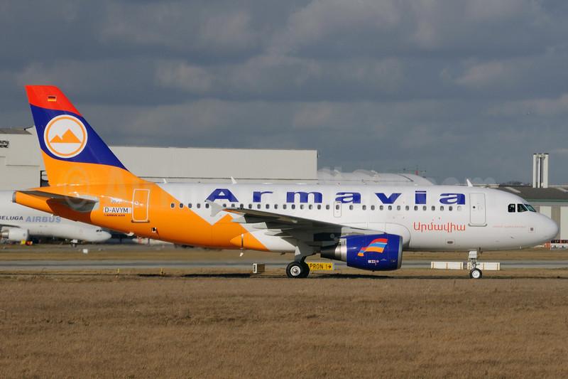 Armavia Air Company Airbus A319-111 D-AVYM (EK32007) (msn 3834) XFW (Gerd Beilfuss). Image: 902591.