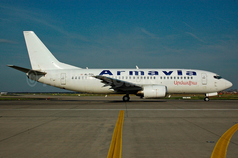 Armavia Air Company (Georgian Airways) Boeing 737-3B7 4L-TGL (msn 23859) FRA (Bernhard Ross). Image: 901355.