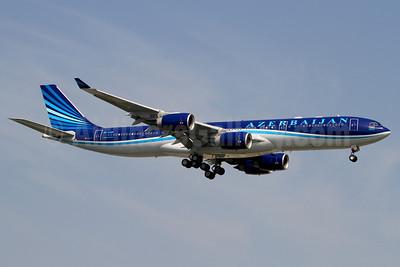 Azerbaijan Airlines Airbus A340-542 4K-AZ85 (msn 886) IST (Rainer Bexten). Image: 912363.