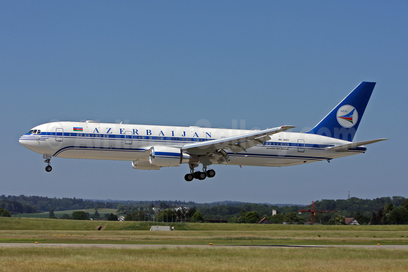 Azerbaijan Airlines-AZAL Boeing 767-32L ER 4K-AI01 (msn 40342) ZRH (Andi Hiltl). Image: 906683.
