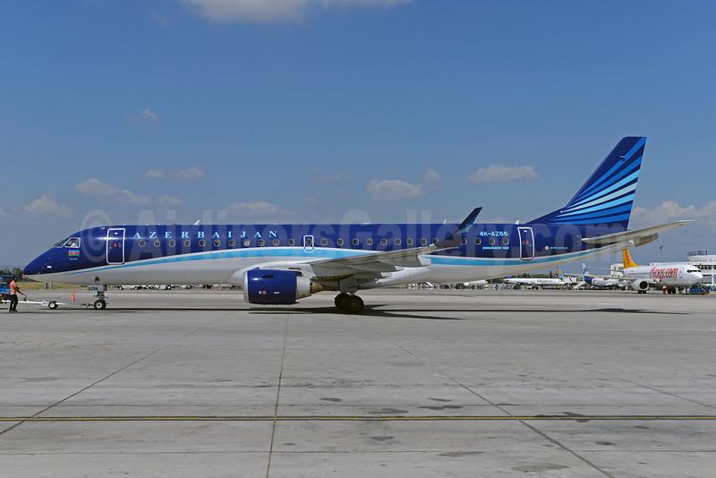 Azerbaijan Airlines Embraer ERJ 190-100 IGW 4K-AZ66 (msn 19000631) AYT (Ton Jochems). Image: 924553.