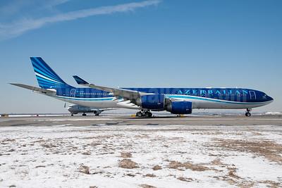 Azerbaijan Airlines Airbus A340-542 4K-AZ86 (msn 894) JFK (Fred Freketic). Image: 926525.