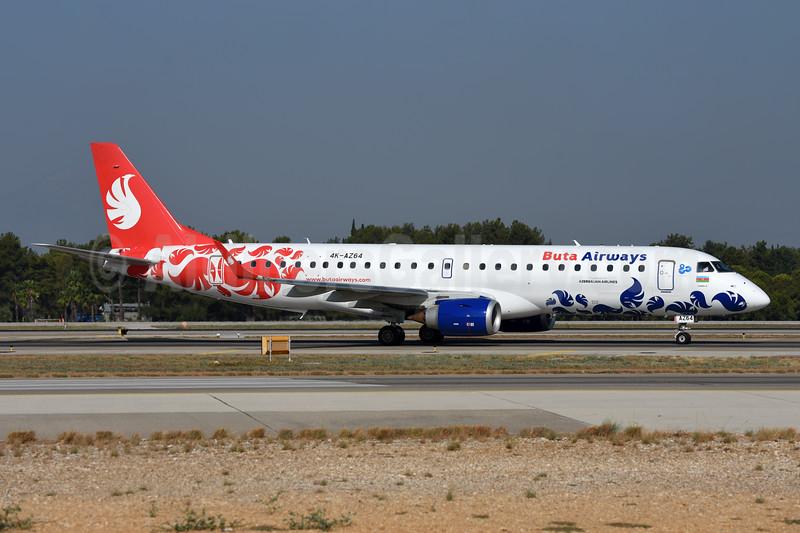 Buta Airways Embraer ERJ 190-100AR (ERJ 190-100 IGW) 4K-AZ64 (msn 19000627) AYT (Ton Jochems). Image: 945112.