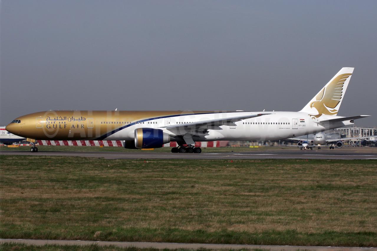 Gulf Air (Jet Airways) Boeing 777-35R ER VT-JEG (msn 35163) LHR (Antony J. Best). Image: 902531.