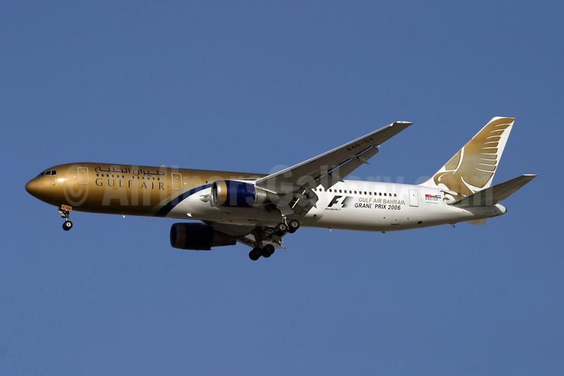 Gulf Air Boeing 767-34P ER A40-GV (msn 26235) (Grand Prix 2006) DXB (Konstantin von Wedelstaedt). Image: 900546.