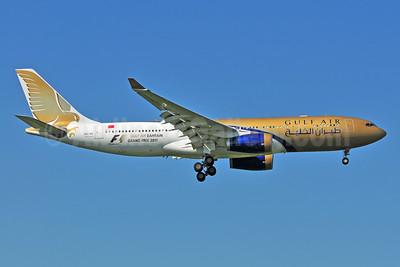 Gulf Air Airbus A330-243 A9C-KD (msn 287) (Grand Prix 2011) LHR (Ton Jochems). Image: 955022.