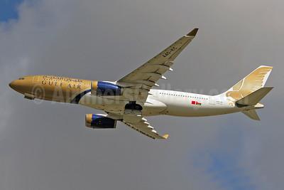Gulf Air Airbus A330-243 A40-KC (msn 286) LHR (Keith Burton). Image: 955021.