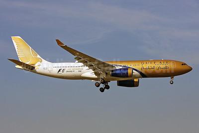 Gulf Air Airbus A330-243 A9C-KA (msn 276) (Grand Prix 2008) LHR (Keith Burton). Image: 901514.