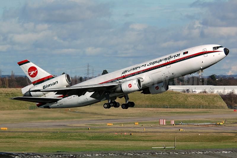 Biman Bangladesh Airlines McDonnell Douglas DC-10-30 S2-ACR (msn 48317) BHX (Nik French). Image: 922184.