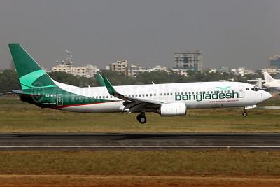 Bangladesh Airlines (Biman Bangladesh Airlines) Boeing 737-83N WL S2-AFM (msn 28653) DAC (John Adlard). Image: 911462.