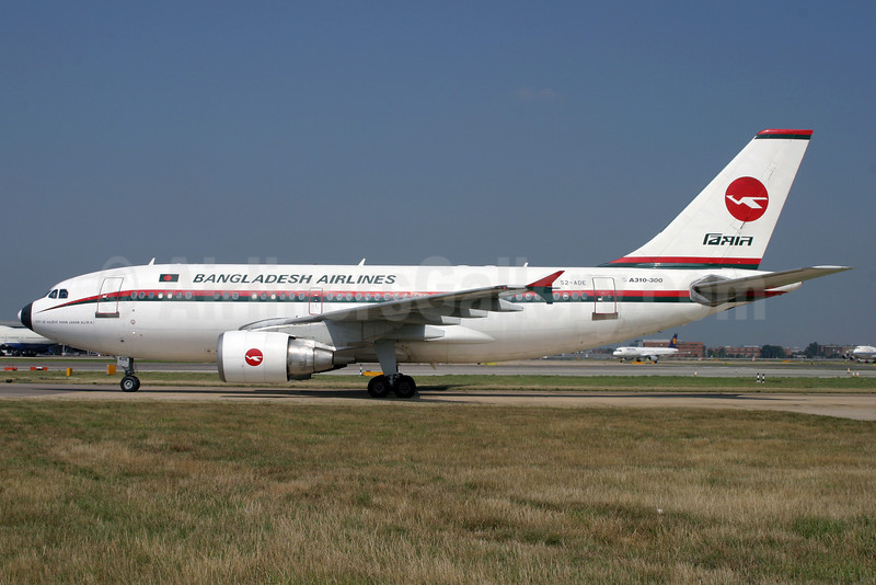 Biman Bangladesh Airlines Airbus A310-325 S2-ADE (msn 698) LHR (Antony J. Best). Image: 900935.
