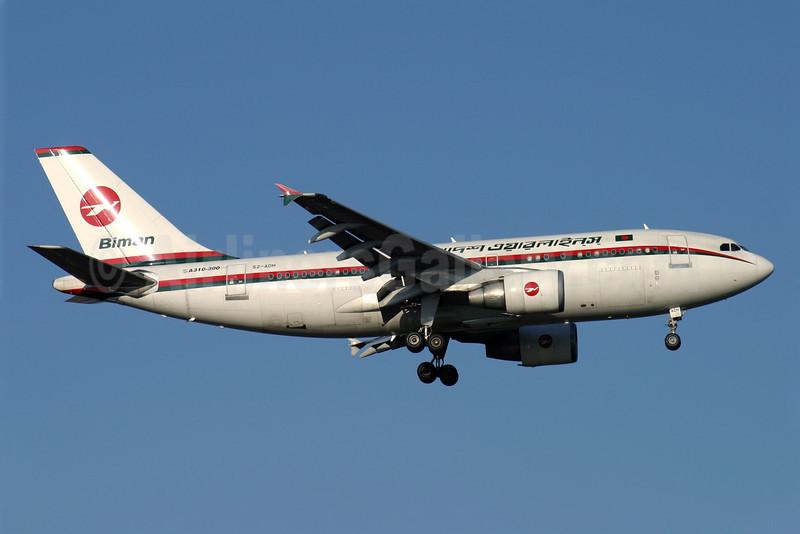 Biman Bangladesh Airlines Airbus A310-325 S2-ADH (msn 650) LHR (Antony J. Best). Image: 900937.