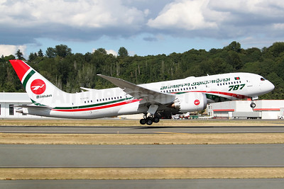 Biman's first Dreamliner, now fully painted