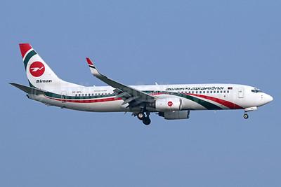 Biman Bangladesh Airlines Boeing 737-83N WL S2-AFL (msn 28648) BKK (Michael B. Ing). Image: 940569.