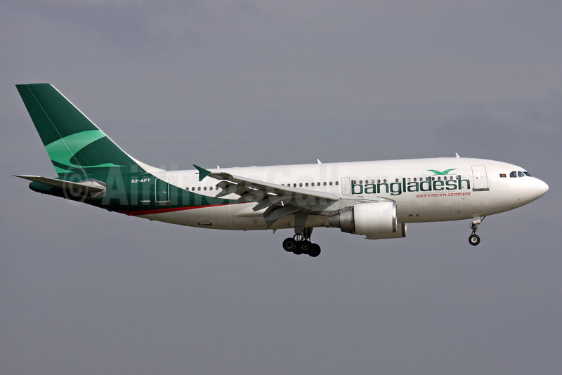 Bangladesh Airlines (Biman Bangladesh Airlines) Airbus A310-325 S2-AFT (msn 642) LHR (Antony J. Best). Image: 905395.