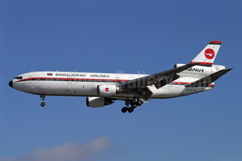 Biman Bangladesh Airlines McDonnell Douglas DC-10-30 S2-ACQ (msn 47817) LHR (Antony J. Best). Image: 900938.