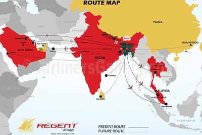 Regent Airways Route Map (December 2020)
