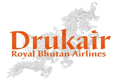 1. Drukair - Royal Bhutan Airlines logo