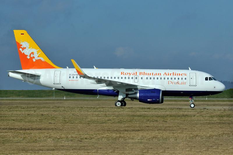 Drukair-Royal Bhutan Airlines Airbus A319-115 WL D-AVYB (A5-JSW) (msn 6496) XFW (Gerd Beilfuss). Image: 926468.