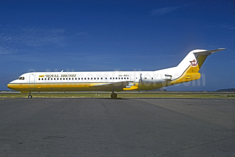 Royal Brunei Airlines Fokker F.28 Mk. 0100 V8-RB3 (msn 11253) (Christian Volpati Collection). Image: 931435.
