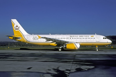 Royal Brunei Airlines Airbus A320-232 V8-RBS (msn 2135) ZRH (Rolf Wallner). Image: 952549.
