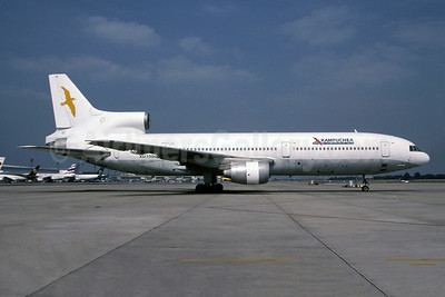 Kampuchea Airlines (2nd) Lockheed L-1011-385-1 TriStar 1 XU100 (msn 1156) BKK (Bruce Drum Collection). Image: 948543.