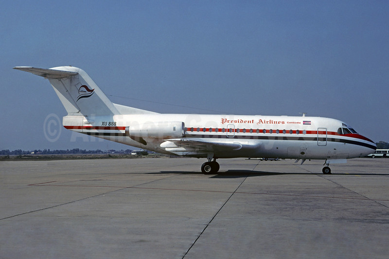 President Airlines (Cambodia) Fokker F.28 Mk. 1000 XU-888 (msn 11012) (Christian Volpati Collection). Image: 934425.