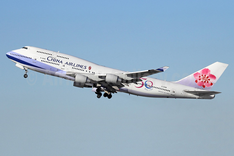 China Airlines Boeing 747-409 B-18208 (msn 29031) (50 Years Since 1959) LAX (Michael B. Ing). Image: 911429.