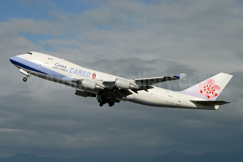 China Airlines Cargo Boeing 747-409F B-18721 (msn 33738) ANC (Michael B. Ing). Image: 910474.