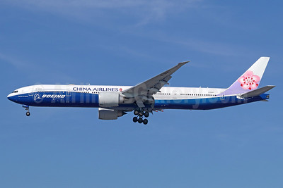 China Airlines Boeing 777-309 ER B-18007 (msn 43982) (Boeing special colors) LAX (Michael B. Ing). Image: 941347.