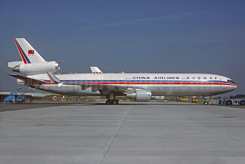 China Airlines McDonnell Douglas MD-11 B-151 (msn 48469) AMS (Christian Volpati Collection). Image: 929577.