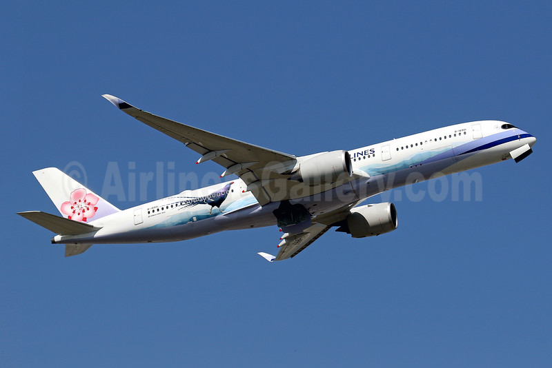 """China Airlines' special 2016 """"Mikado Pheasant""""  livery, an endangered species"""