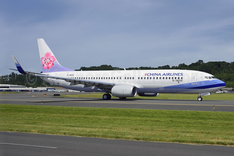 China Airlines Boeing 737-8MA WL B-18656 (msn 40946) BFI (Steve Bailey). Image: 922916.