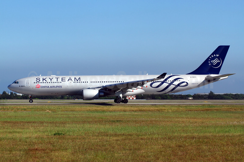 China Airlines Airbus A330-302 B-18311 (msn 752) (SkyTeam) TPE (Manuel Negrerie). Image: 908858.