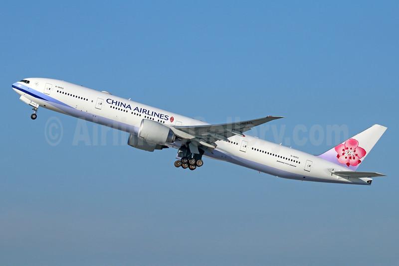 China Airlines Boeing 777-36N ER B-18052 (msn 41822) LAX (Michael B. Ing). Image: 926052.
