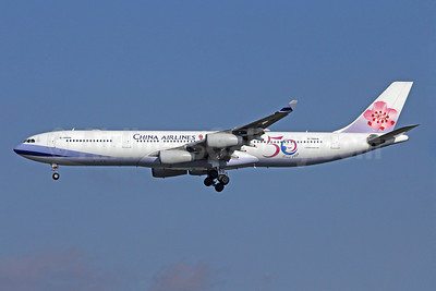 China Airlines Airbus A340-313 B-18806 (msn 433) (50 Years Since 1959) NRT (Michael B. Ing). Image: 908863.