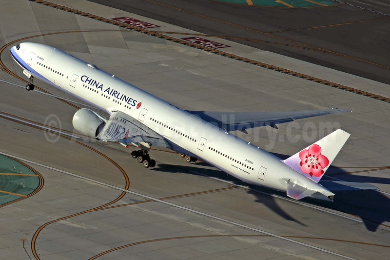 China Airlines Boeing 777-36N ER B-18052 (msn 41822) LAX (Rob Finlayson). Image: 925593.