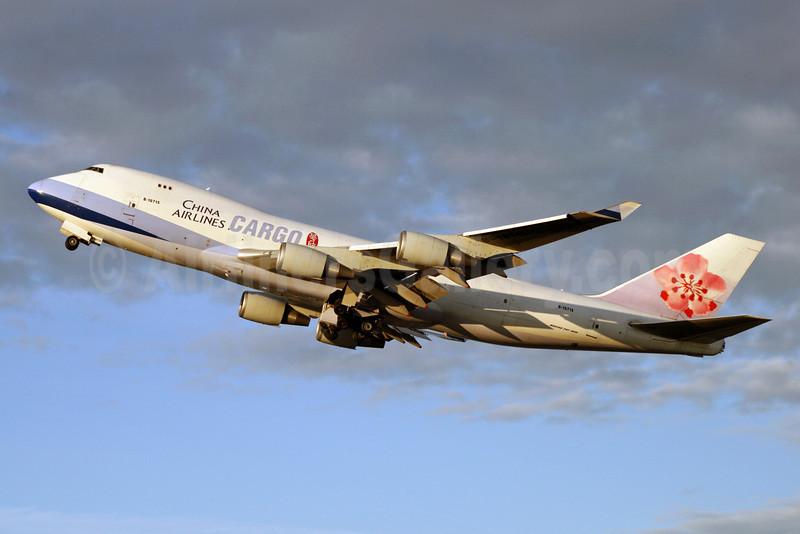 China Airlines Cargo Boeing 747-409F B-18715 (msn 33731) ANC (Michael B. Ing). Image: 910472.