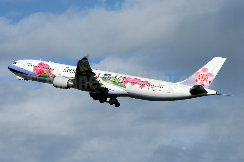 """CAL's """"Butterfly Orchid"""" livery, 2005 - 2011"""
