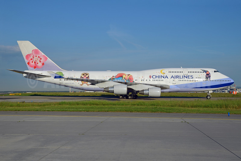 China Airlines Boeing 747-409 B-18203 (msn 28711) (Jimmy - Love and Hug) FRA (Bernhard Ross). Image: 912590.