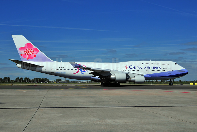 China Airlines Boeing 747-409 B-18208 (msn 29031) (50 Years Since 1959) AMS (Ton Jochems). Image: 903423.